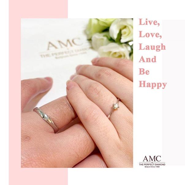 AMC鑽石-情侶戒指-鑽石-項鍊-鑽石-結婚對戒-線戒-求婚-鑽戒