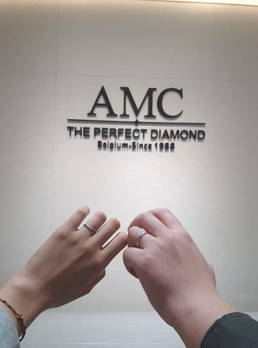 AMC鑽石 情侶戒指 鑽石 項鍊 鑽石 結婚對戒 線戒 求婚戒指 鑽戒