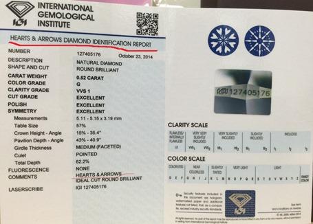 AMC鑽石婚戒鑽戒IGI證書S_13164547