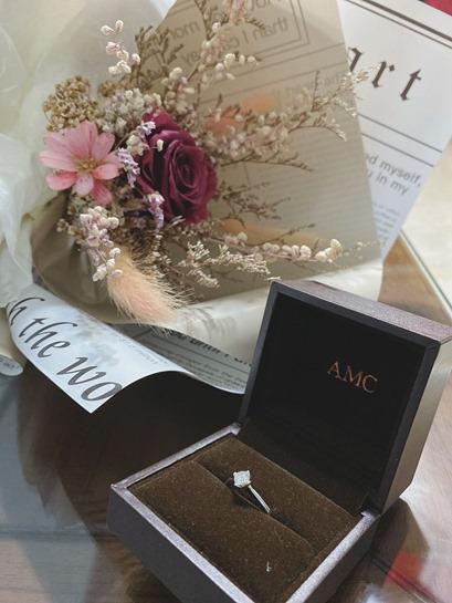 AMC鑽石婚戒 GIA鑽戒 求婚鑽戒推薦, 訂婚鑽戒,結婚對戒,婚戒推薦,婚戒,婚戒